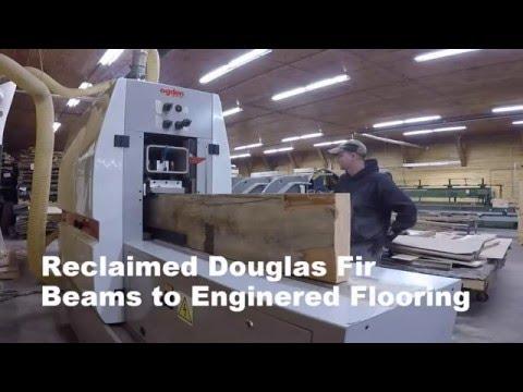 Reclaimed Fir Beams to Flooring