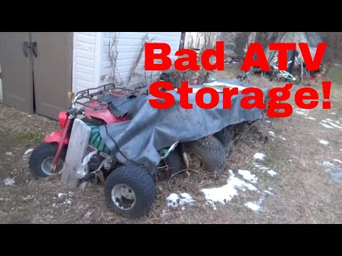 How to store an ATV, some considerations and common mistakes!