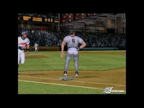 MVP Baseball 2005 GameCube Gameplay - Check out these guns.