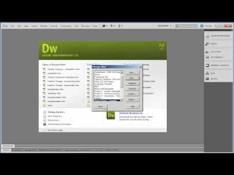 Part 3 - Uploading Your Website (Dreamweaver)