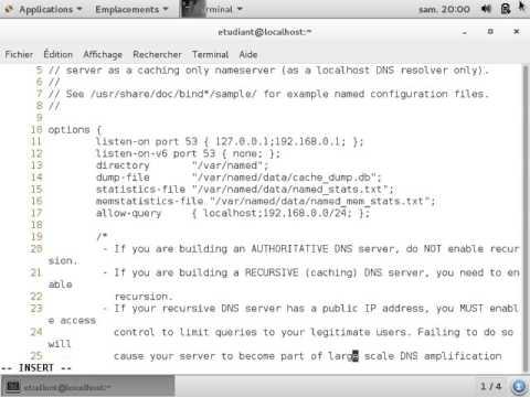 CentOS 7 : configuration du serveur DNS