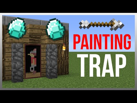 Minecraft 1.12: Redstone Tutorial - Painting Arrow TRAP!