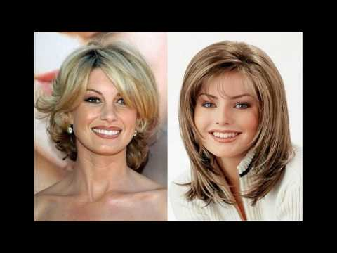 Short haircuts for older women with oval faces