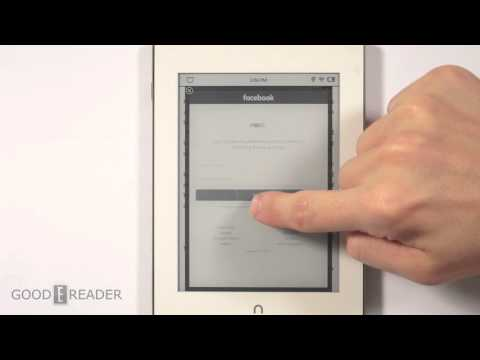 How to access the hidden web browser on the Nook Glowlight Plus