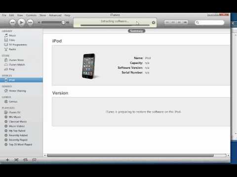 iTunes Restore 5.1-5.0.1