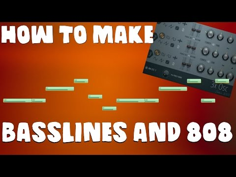 How to make Basslines and 808s on FL STUDIO!