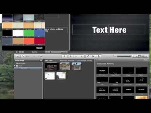 How to make animations with imovie