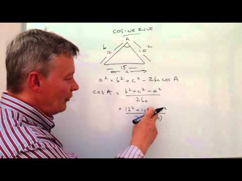 How to work with the cosine rule - exam question angle in triangle