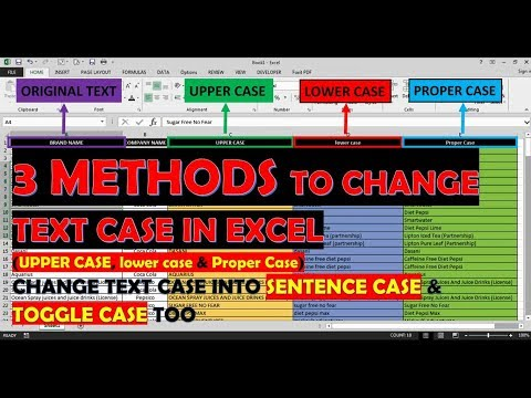 Change Text (3 Methods) into Upper Case Lower Case or Proper Case in Excel | Capitalize text