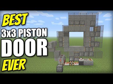 Minecraft PS4 - 3x3 PISTON DOOR [ Best Ever ] Redstone Tutorial Xbox /PE / PS3 / Switch
