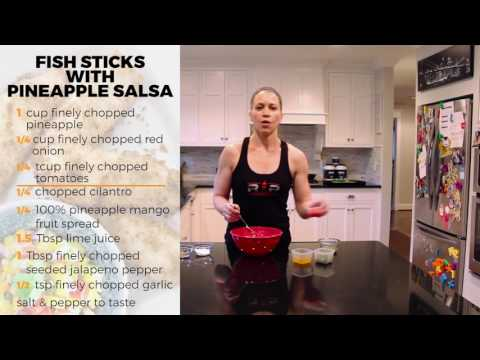 Fishsticks with Pineapple Salsa- RP Kitchen with Lori Shaw