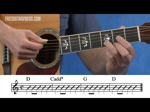 D Cadd9 G Guitar Chord Progression