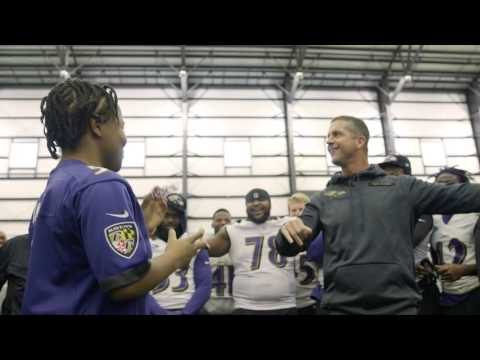 John Harbaugh Dabs At Request Of Make-A-Wish Young Girl | Make A Wish | Baltimore Ravens