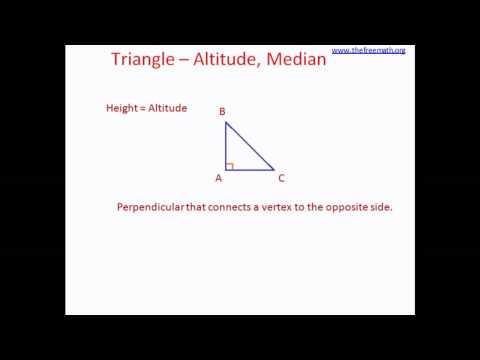 Triangle - Altitude, Median