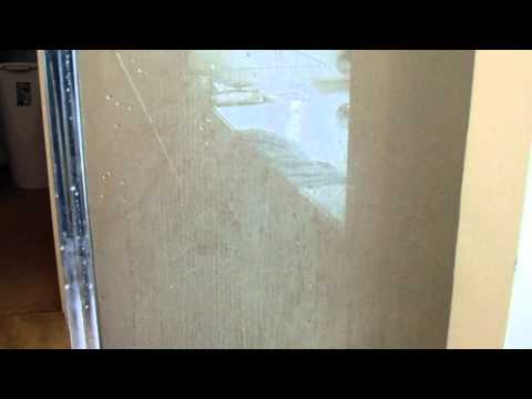 Life Hack to remove soap scum from glass shower door