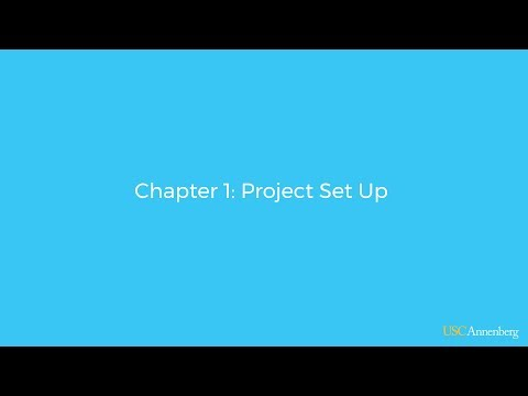 Module 3, Chapter 1: Project Set Up