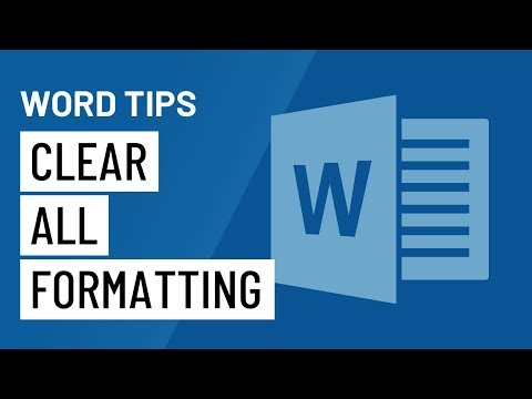 Word Quick Tip: Clear All Formatting