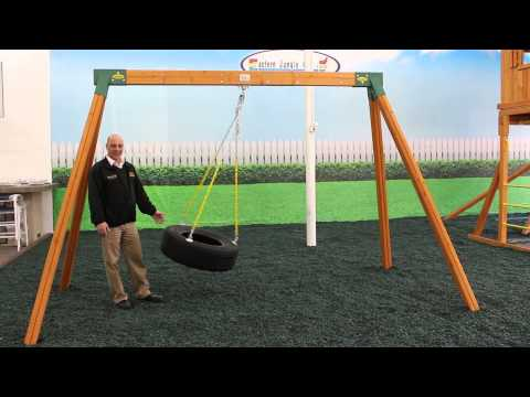 Classic Wooden Tire Swing