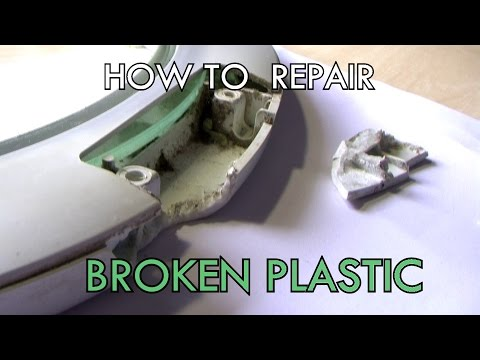 HOW TO repair broken plastic EASY and FAST (PLASTIC WELDING)