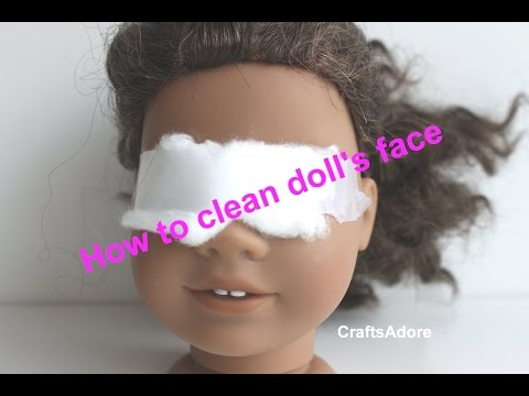 How to clean American Girl doll's face & remove stains ~HD~