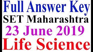 MH-SET exam 2019 June 23 Life Science Answer Key