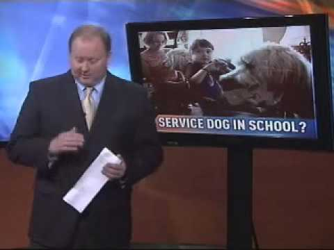 Mom says school district changes autistic daughter's IEP, balks at letting service dog in school