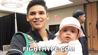 """RYAN GARCIA HEARTFELT MOMENT WITH BABY DAUGHTER BEFORE WEIGH-IN: """"SHE MET CANELO'S DAUGHTER"""""""