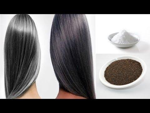 सफेद बालों को जड़ से काला व् चमकदार करने का रामबाण उपाय / Turn white hair to black permanently