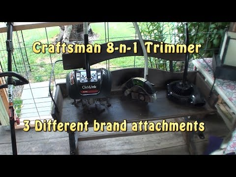 Craftsman 8-n-1 Trimmer with 3 different brand attachments