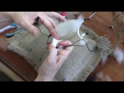 Needle Felted Fawn Part 1: Armature and Body Wrapping