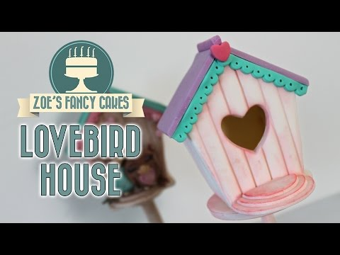 Lovebird house cake topper: Valentines collaboration