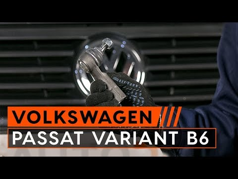 How to replace track rod end VW PASSAT VARIANT B6 (3C5) [TUTORIAL AUTODOC]