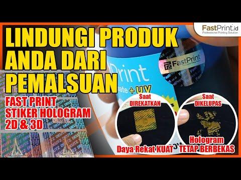 Custom Stiker Hologram 2D dan 3D Keaslian Produk dan Dokumen. Stiker Segel Hologram Warna 2D Dan 3D