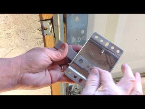 Garage door slide lock repair