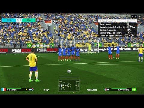PES 2018 Beta PS4 Gameplay - Brasil Vs Francia