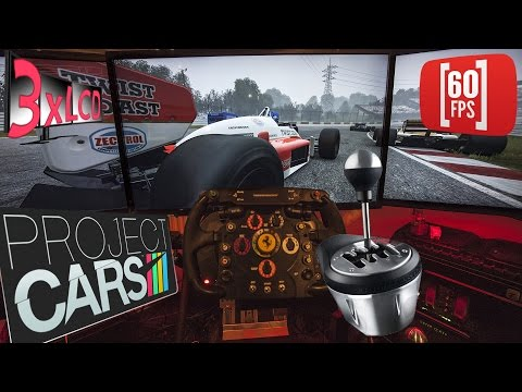 Project CARS | single seater foggy race | Lotus 98T with manual gearbox | onboard 60 fps