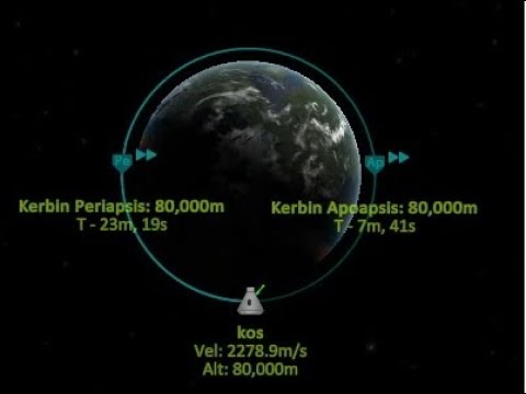 Kerbal Space Program perfect orbit with KOS - Exactly 80.000m