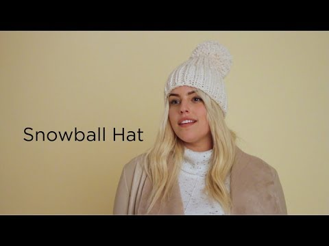 Snowball Hat knit with Wool-Ease® Thick & Quick®