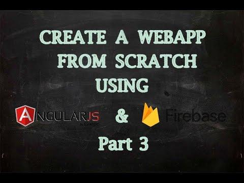 Create Web App Using AngularJS and Firebase - Login Page (Part 3)