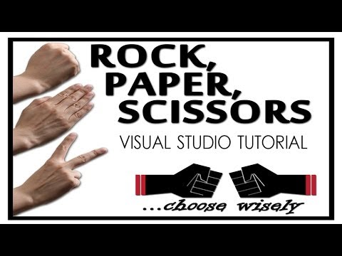 How to make a Scissors Paper Rock Game [Beginner Difficulty] - (Visual Studio 2012)