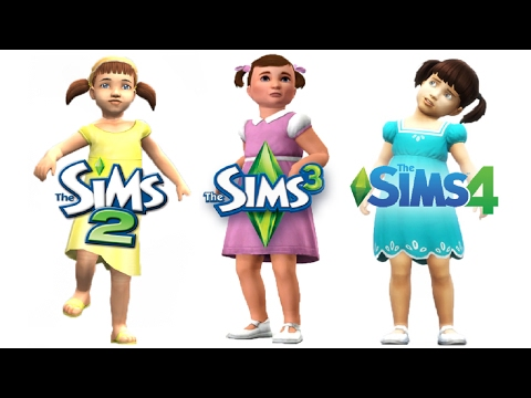 ♦ Sims 2 vs Sims 3 vs Sims 4 : Toddlers