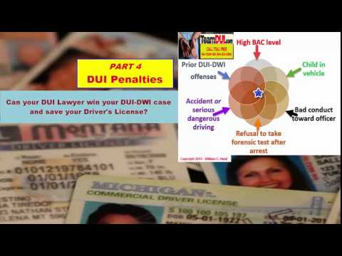 Penalties for DUI | DUI Penalties | Consequences of a DUI | DWI penalties  - Part 4