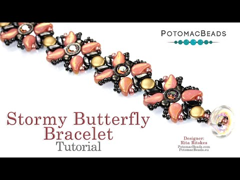 Stormy Butterfly Bracelet (Tutorial)