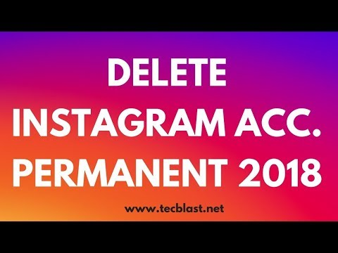 How To Delete My Instagram Account Permanently 2018