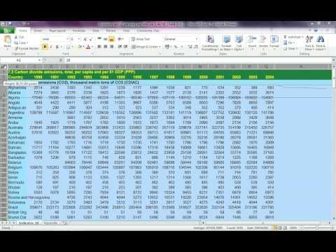 Excel 2010 - Les lignes de tendances (sparkline)