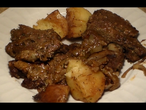 Marinated Oven Baked Steak & Potatoes Recipe: How To Make Steak In The Oven