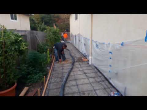 Veterans concrete,...pre pour set up @ patio & sidewalk