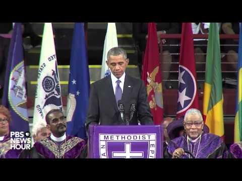 Watch President Obama deliver eulogy at Rev. Pinckney's funeral