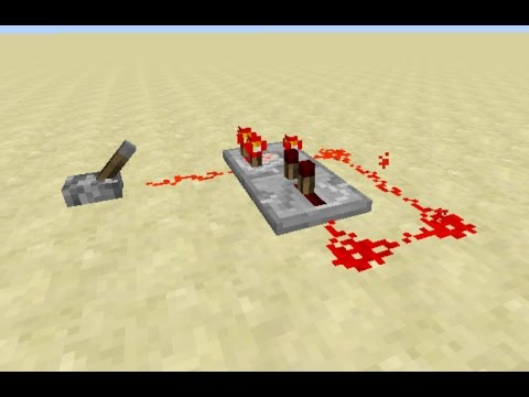 Minecraft: How to make a Simple Redstone Comparator Clock [1.11 Tutorial]