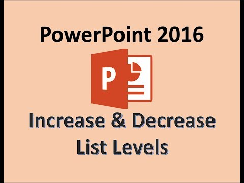 PowerPoint 2016 - Create a Title Slide and Slides With Lists